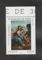 """FRANCE / 2019 / Y&T N° 5355 ** : """"Sainte Anne, Vierge Marie & Jésus"""" (Léonard De Vinci) X 1 BdF Haut - Neufs"""