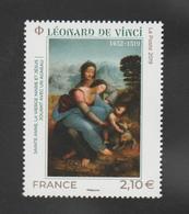 """FRANCE / 2019 / Y&T N° 5355 ** : """"Sainte Anne, Vierge Marie & Jésus"""" (Léonard De Vinci) X 1 - Neufs"""