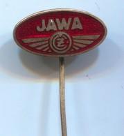 Motorbike, Motorcycle, Motorrad, Moped - JAWA Czechoslovakia, Vintage Pin, Badge, Abzeichen, Enamel, 1950s - Motorfietsen