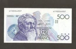 BELGIQUE 500 FRANCS MEUNIER  Génie-Godeau UNC - 500 Franchi