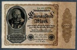 Pick82a  Ro81b  DEU-92c - 1000 Mark 1922 ** XF** - [ 3] 1918-1933 : République De Weimar