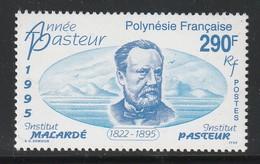 POLYNESIE - N°481 ** (1995) L.Pasteur - Neufs