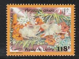 POLYNESIE - N°579 ** (1999) Année Du Lièvre - Neufs