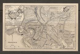 CARTE PLAN 1930 - FOUGERES PLAN Du CHATEAU PLAN De La VILLE - CASERNE CHAMP DE FOIRE GAZ - Topographical Maps