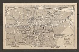 CARTE PLAN 1930 - LAVAL - VIADUC PRISON GALERIES DE L'INDUSTRIE ANCIEN ÉVÉCHÉ - Topographical Maps