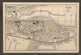 CARTE PLAN 1930 - VITRÉ - CHATEAU POSTE Et TÉLÉGRAPHE CLOCHER GARE - Topographical Maps