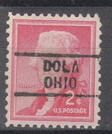 USA Precancel Vorausentwertung Preo, Locals Ohio, Dola 729 - United States