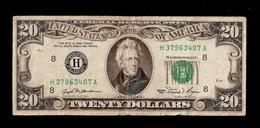 U.S.A. 20 DOLLARS JAKSON SERIES 1981 H - Devise Nationale