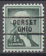 USA Precancel Vorausentwertung Preo, Locals Ohio, Dorset 729 - United States