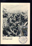 """1956 : """" 40 ANS DE LA VICTOIRE DE VERDUN """" Sur Carte Maximum De 1956. N° YT 1053. Parfait état. Voir Les 2 Scans. CM - 1. Weltkrieg"""