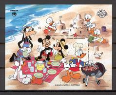 Disney Grenada Gr 1988 A Beach Party In Australia MS MNH - Disney