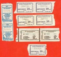 Russia 2017. City Kaliningrad. Lot Of 9 Tickets. - Bus
