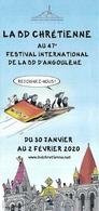BD - Dépliant-programme:  La BD Chrétienne Au 47e Festival BD Angoulême 2020 - Ill. Fanny Roch - Programs