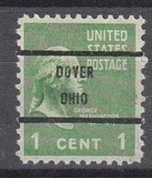 USA Precancel Vorausentwertung Preo, Bureau Ohio, Dover 804-71 - United States