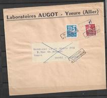 PREOBLITERE Grande Enveloppe Avec Moissonneuse Et Coq Annulé Retour A L'envoyeur - 1921-1960: Periodo Moderno