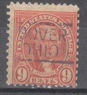 USA Precancel Vorausentwertung Preo, Locals Ohio, Dover 641-547 - United States
