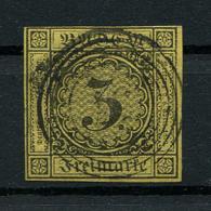Baden: 3 Kr. MiNr. 2 1851 Gestempelt / Used / Oblitéré - Baden