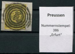 "Preussen: 3 Sgr. MiNr. 4 Nummernstempel 386 ""Erfurt""  Gestempelt / Used / Oblitéré - Preussen (Prussia)"