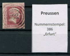 "Preussen: 1 Sgr. MiNr. 6 Nummernstempel 386 ""Erfurt""  Gestempelt / Used / Oblitéré - Preussen (Prussia)"