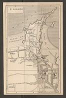 CARTE PLAN 1930 - SAINT LUNAIRE - GRAND HOTEL CASINO HALLES GROTTES USINE A GAZ Et ÉLECTRIQUE - Topographical Maps