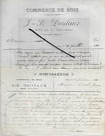 70 - Haute-saône - IGNY - Facture DOUTAUX - Commerce De Bois - 1910 - REF 289 - France