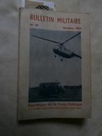 Bulletin Militaire 97 Octobre 1959 Force Publique Congo : J Gavin, R Castex, - Riviste & Giornali