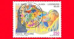 VATICANO - Usato - 1987 - Viaggi Di Giovanni Paolo II Nel 1985-86 - Olanda, Belgio, Lussemburgo - 250 - Vatican