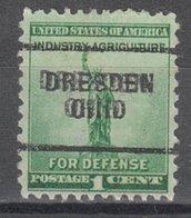 USA Precancel Vorausentwertung Preo, Locals Ohio, Dresden 703 - United States