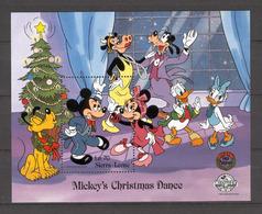 Disney Sierra Leone 1988 Mickey's Christmas Dance #1 MS MNH - Disney