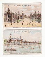 Chromo  CHOCOLAT PRIMAH    Lot De 2    Exposition Universelle 1900     12.2 X 7.8 Cm - Chocolat
