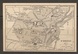 CARTE PLAN 1930 - SAINT BRIEUC - ABATTOIR GARE CENTRALE - Topographical Maps