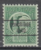 USA Precancel Vorausentwertung Preo, Locals Ohio, Dunbridge 734 - United States