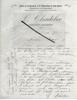 70 - Haute-saône - LUXEUIL-LES-BAINS - Facture CHADEBEC - Cordonnerie, Réparations En Tous Genres - 1913 - REF 289 - 1900 – 1949