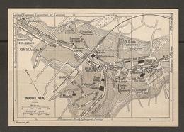 CARTE PLAN 1930 - MORLAIX - RESTES DES REMPARTS MANUFACTURE DES TABACS CASERNE PRISON - Topographical Maps