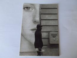 CP PUBLICITE   CART' COM VISAGE DE FEMME UN HOMME ET UNE BOITE AUX LETTRES - Publicité