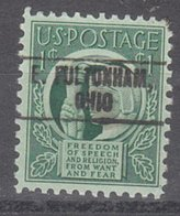 USA Precancel Vorausentwertung Preo, Locals Ohio, East Fultonham 750 - United States
