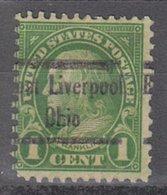 USA Precancel Vorausentwertung Preo, Locals Ohio, East Liverpool 632-545 - United States
