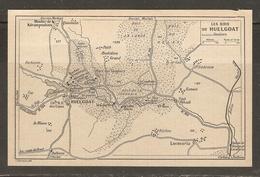 CARTE PLAN 1930 - LES BOIS DE HUELGOAT - LOCMARIA LE MÉNEC KERLIOU KERBIZIEN MENHIR DE KÉRAMPEULVEN - Topographical Maps