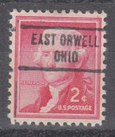 USA Precancel Vorausentwertung Preo, Locals Ohio, East Orwell 734 - United States