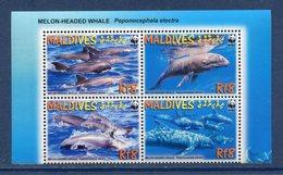 Maldives - Bloc - Dauphins - WWF - Neuf Sans Charnière - Maldives (1965-...)