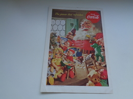 "Origineel Knipsel ( 2450 ) Uit Tijdschrift "" Geographic Magazine "" 1953 : Sancta Claus  Père Noël  Kerstman ( 25 X 17 ) - Afiches Publicitarios"