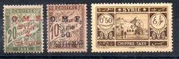 Syrie  Syrien Porto Y&T T 6* (Maury T 6 II* 14,5 Mm), T 9*, T 35* - Syria (1919-1945)