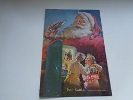"Origineel Knipsel ( 2452 ) Uit Tijdschrift "" Geographic Magazine "" 1950 : Sancta Claus  Père Noël  Kerstman ( 25 X 17 ) - Afiches Publicitarios"