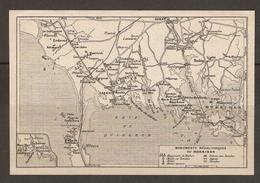 CARTE PLAN 1930 - BRETAGNE - MONUMENTS MÉGALITHIQUES DU MORBIHAN MENHIR DOLMEN TUMULUS - Topographical Maps