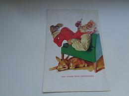 "Origineel Knipsel ( 2453 ) Uit Tijdschrift "" Geographic Magazine "" 195? : Sancta Claus  Père Noël  Kerstman ( 25 X 17 ) - Afiches Publicitarios"