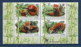 Bhoutan - Bhutan - Bloc - Red Panda - WWF - Neuf Sans Charnière - Bhután