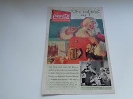 "Origineel Knipsel ( 2455 ) Uit Tijdschrift "" Geographic Magazine "" 19?? Sancta Claus  Père Noël  Kerstman Shirley Temple - Afiches Publicitarios"