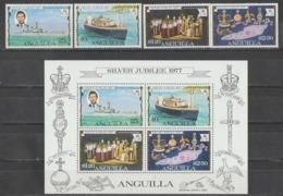 ANGUILLA  1977  **   MNH  YVERT  238/41  S/S  15   VALOR   9.50 € - Anguilla (1968-...)