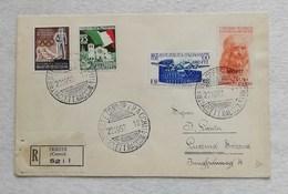 Busta Di Lettera Raccomandata Da Trieste Per Lucerna (CH) 22/10/1952 - 7. Triest