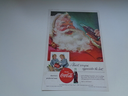 "Origineel Knipsel ( 2459 ) Uit Tijdschrift "" Geographic Magazine "" 1955 : Sancta Claus  Père Noël  Kerstman 25 X 17 Cm. - Afiches Publicitarios"